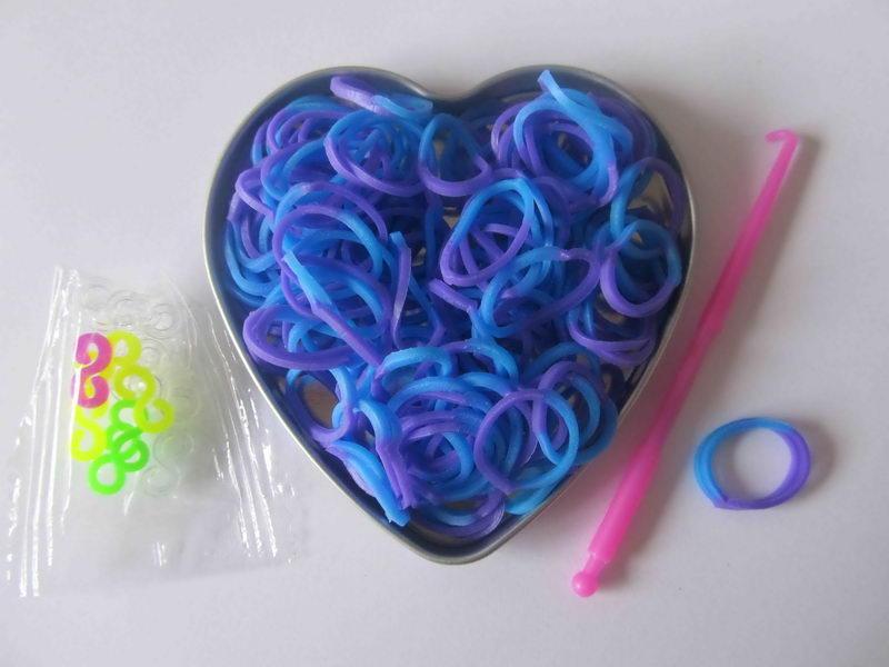 Pletací gumičky - fialovo modré a01bfc9f56