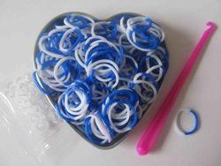 Pletací gumičky - modro bílé empty 149c67cf9b