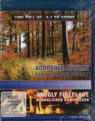 Adorable Autumn a Snugly Fireplace (Blu-ray)