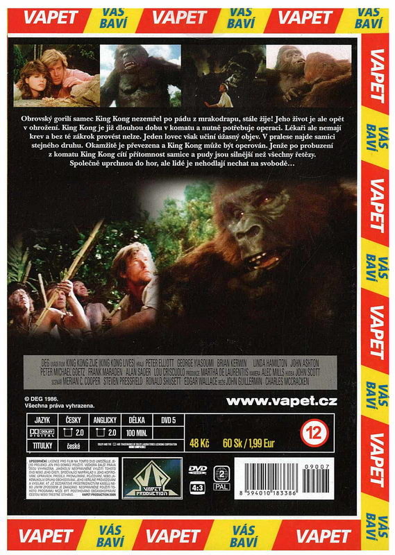 King kong žije DVD