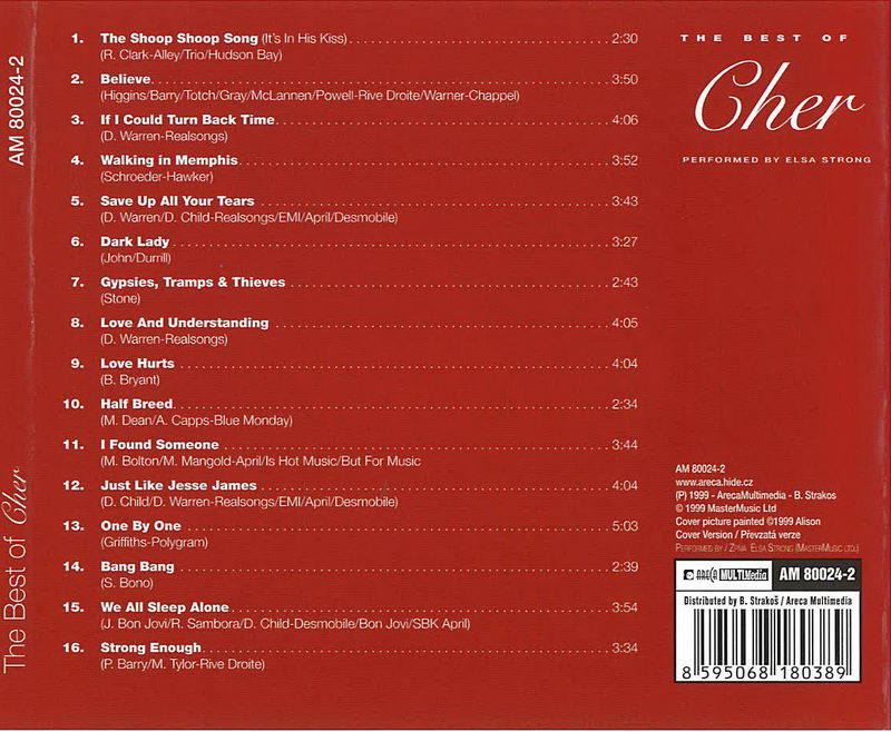 The best of Cher - CD cover