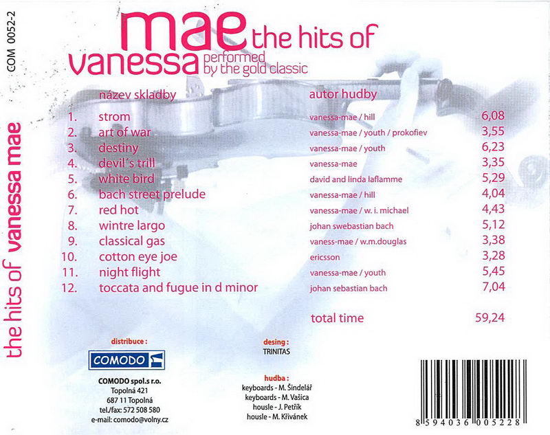 The Hits Of Vanessa Mae - CD cover